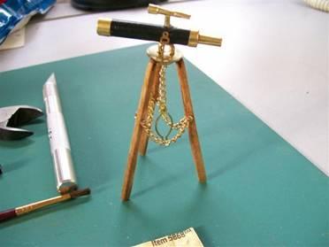 Dollhouse Miniature Telescope W//tripod Black
