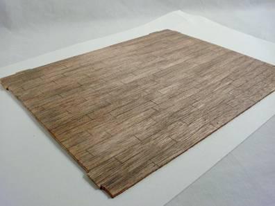 make dollhouse wood floors