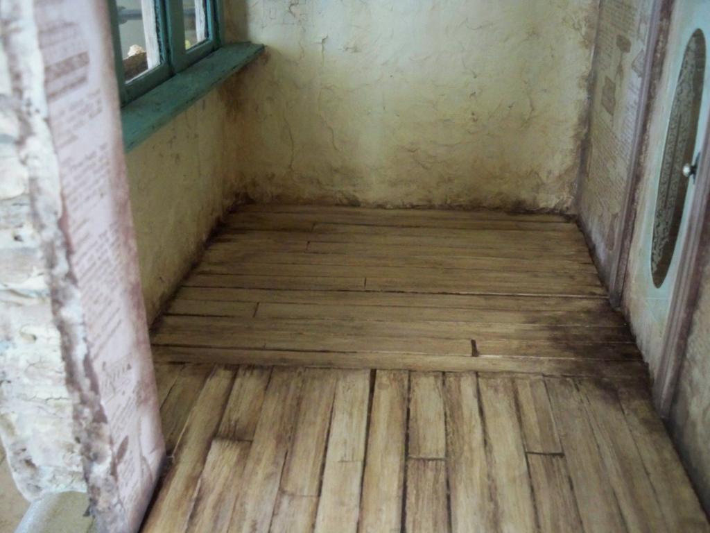 Kitchen floor aged