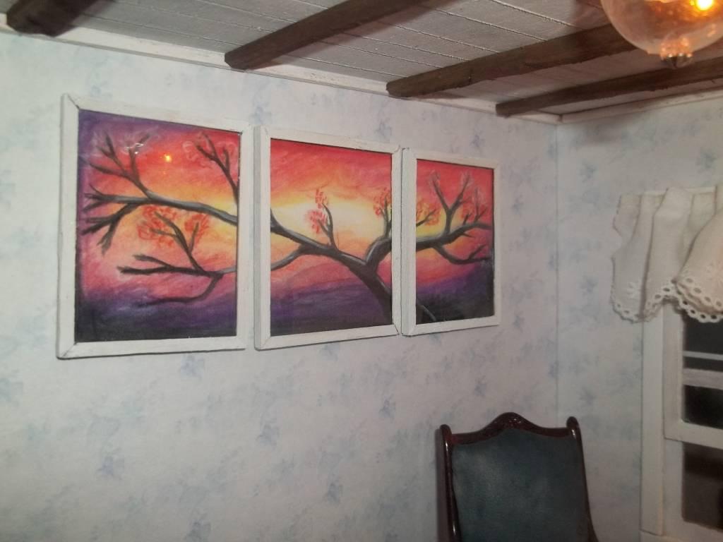 Sunset panel art
