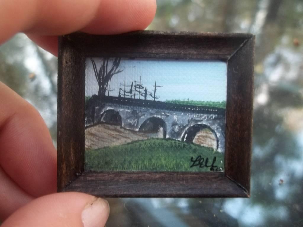 Stone bridge painting
