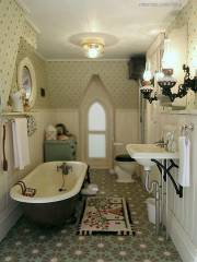 Vintage farmhouse bathroom