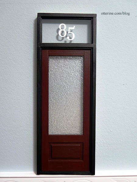 Brownstone Front Door Paint Transom Numbers And Textured Glass