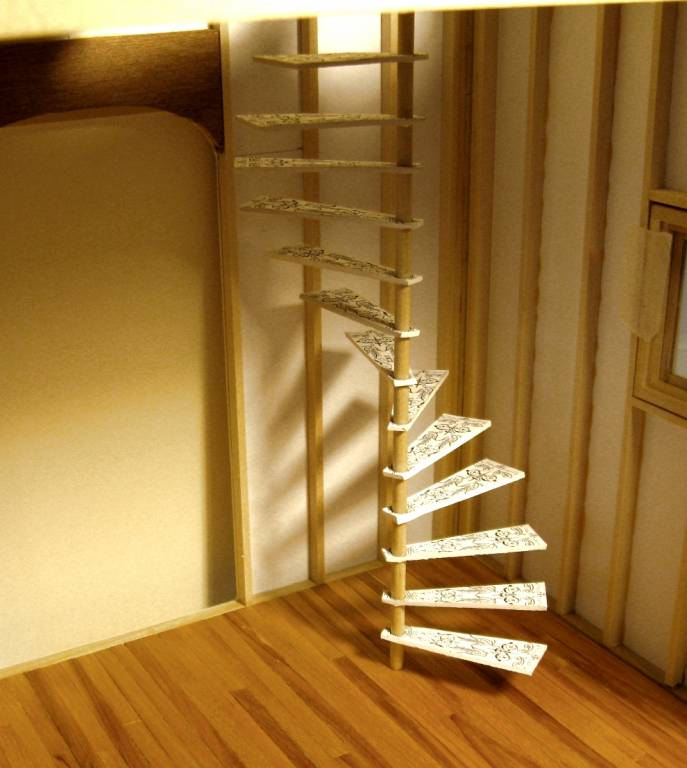 Attractive Spiral Staircase Mock Up