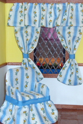 Chair and curtains