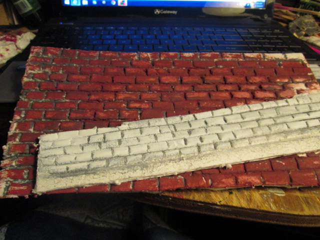 First couple of tries at foam board bricks