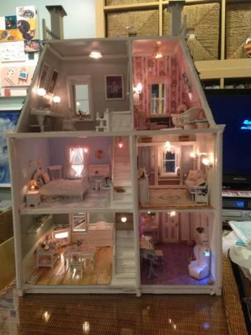 The Shabby Chic Dollhouse The Greenleaf Miniature Community