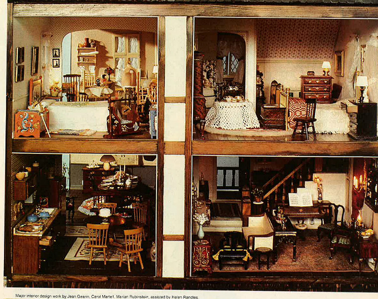 English Country Miniature House Apr 1981 Decorating Craft Ideas