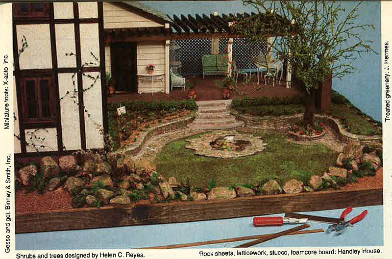 English Country Miniature House Mar 1981 Decorating Craft Ideas
