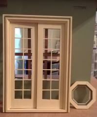 French doors and octagon window