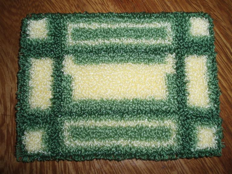 Punchneedle rug I made for the McKinley attic bedroom.