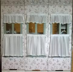 Dry fit: bedroom #1 bay window curtains