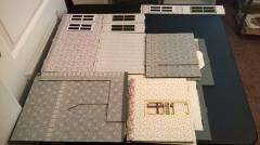 Wallpapered pieces