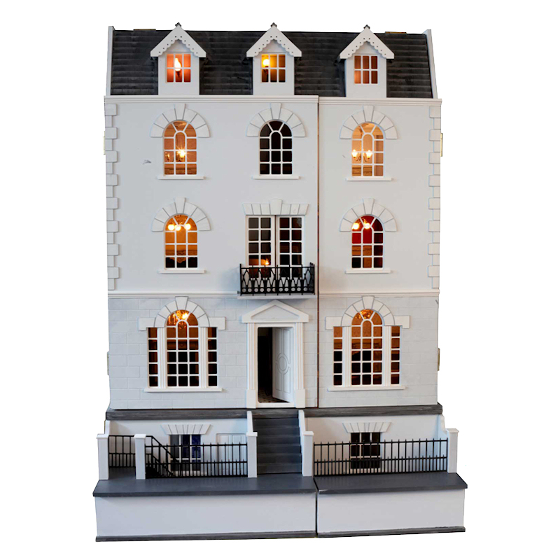 The Beeches Girls English Dolls House With Basement.