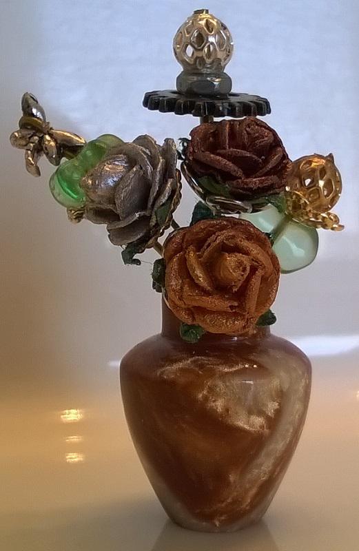 Steampunk flowers in Vase