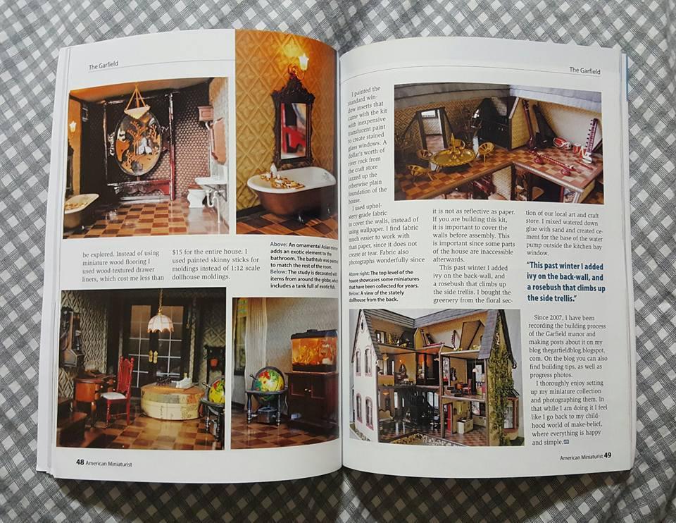 a7cc5e5f18c my Garfield dollhouse got featured on American Miniaturist, Issue #156!