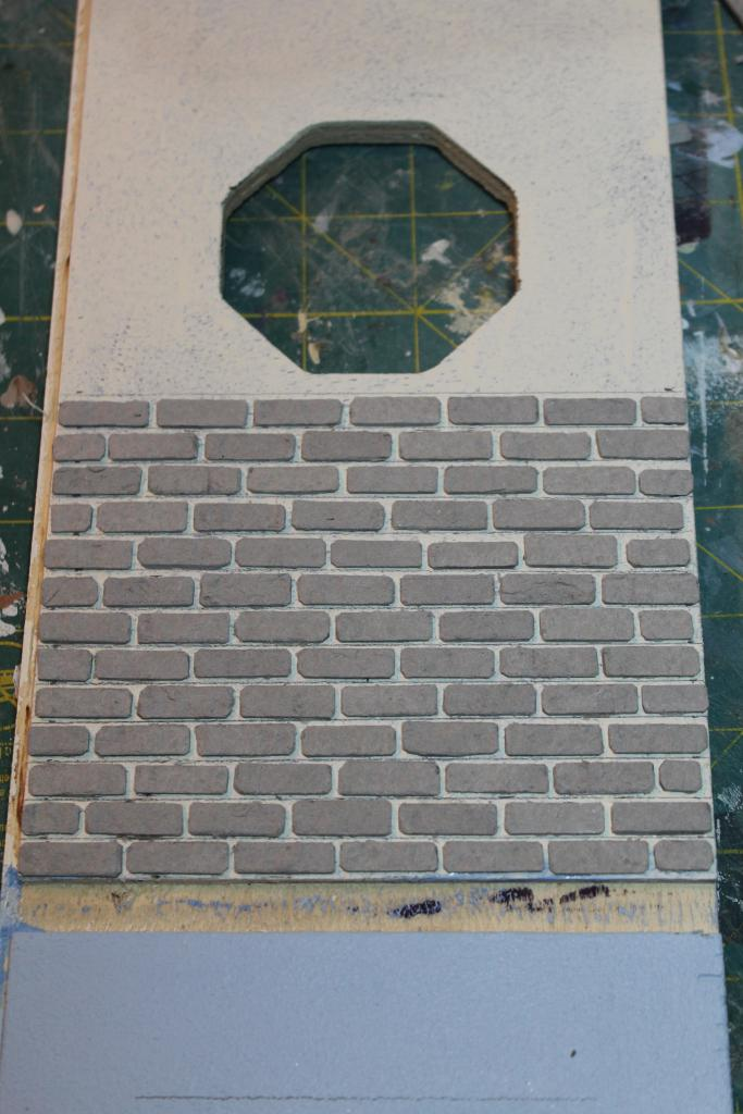 First attempt at faux bricks