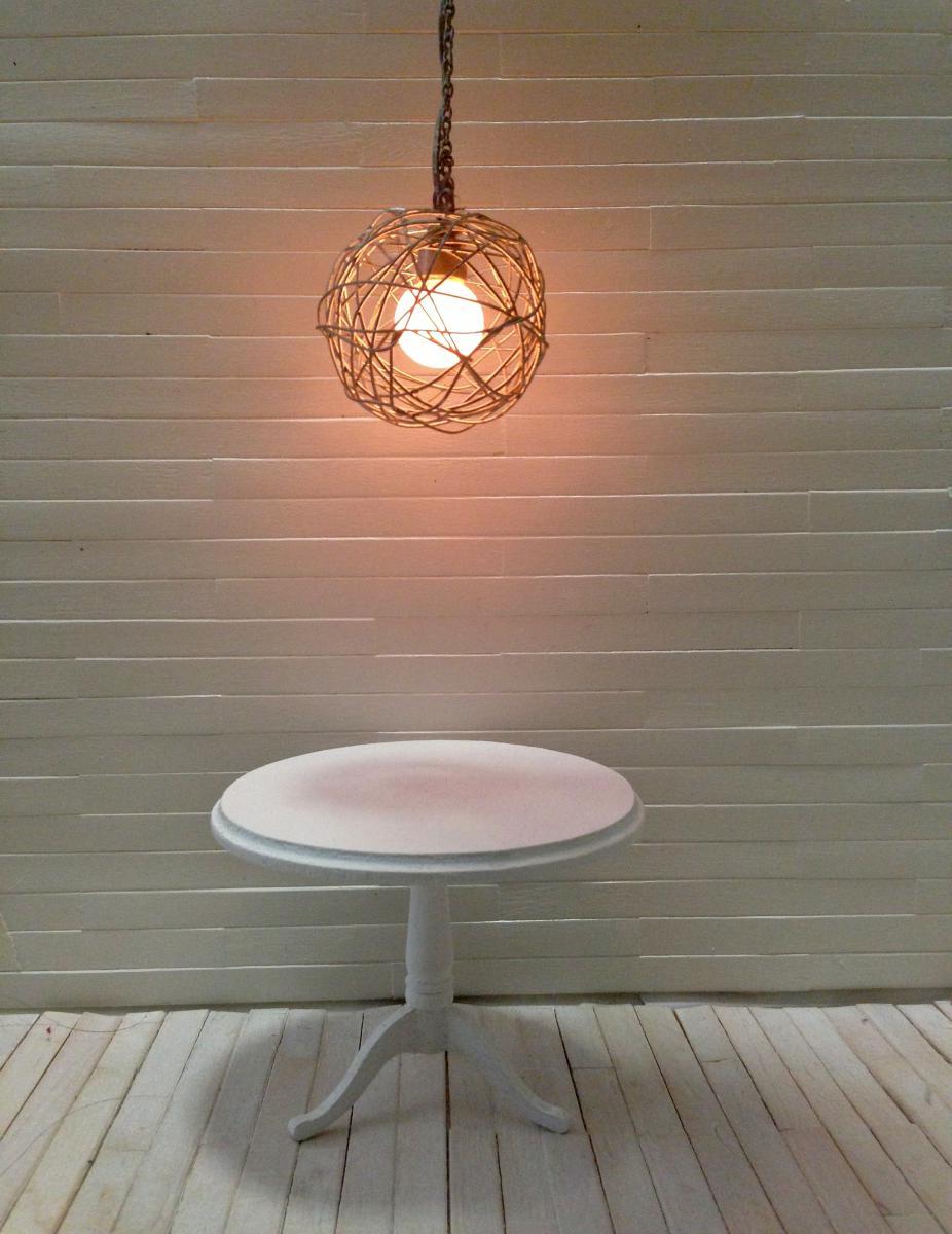 Modern Wire Ball Light Fixture