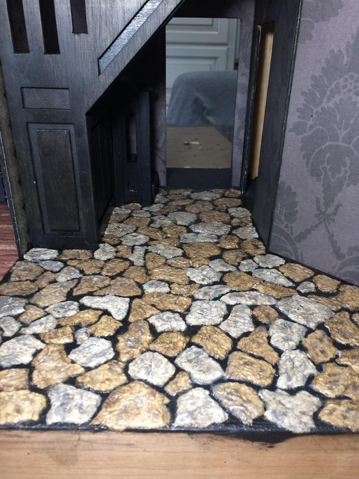 Beacon Hill Haunted Mansion Stone Foyer