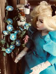 Dolls and my china painted porcelain dishware