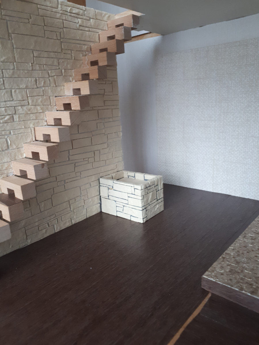 Hallway, stairs and planter