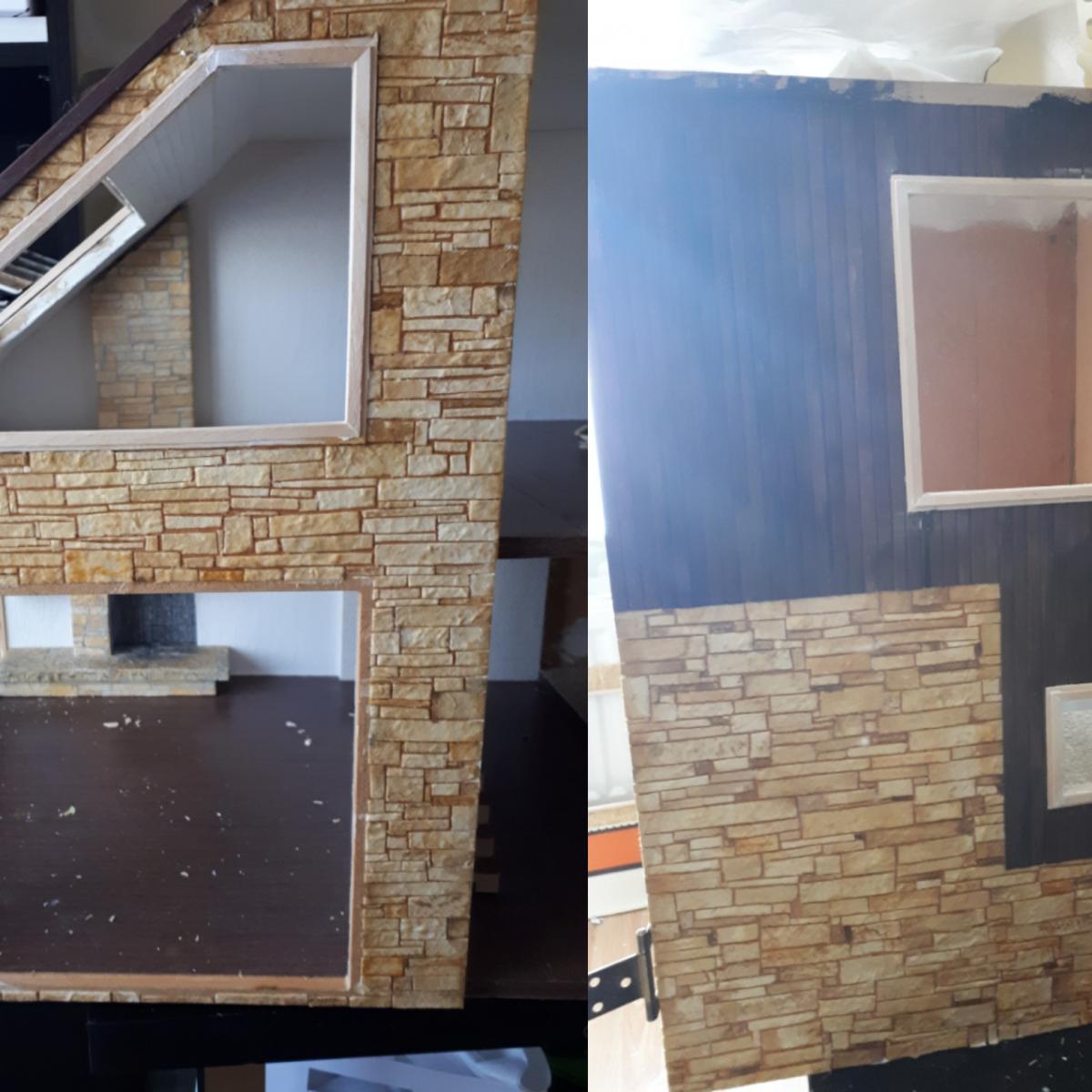 Brickwork in progress