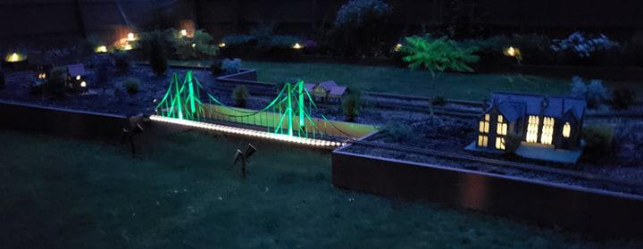 Botanical Train Garden at night