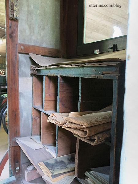 Mail wagon interior