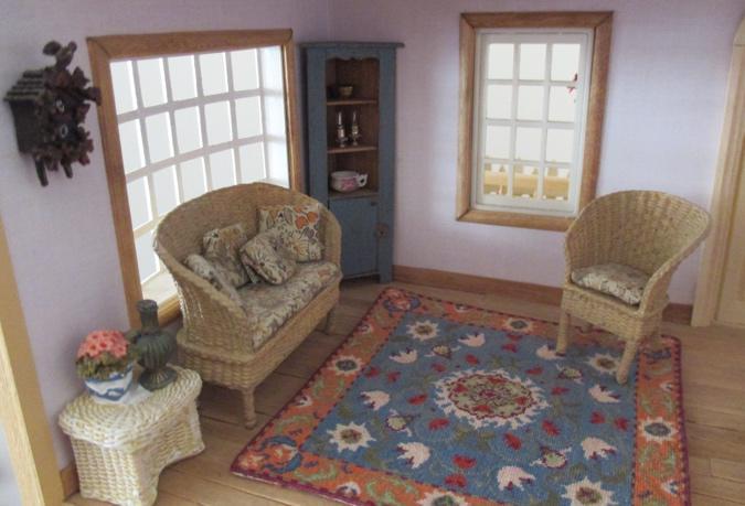 William Morris style rug (half scale)