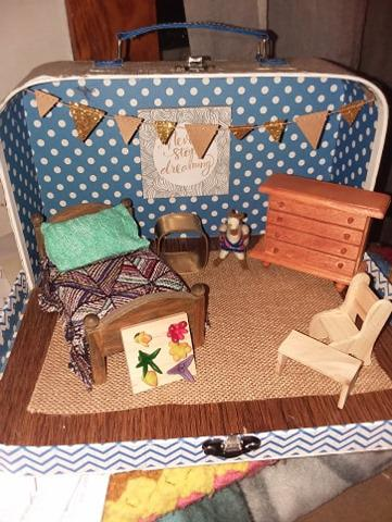 modern bedroom scene