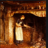 1800s kitchen cooking fireplace