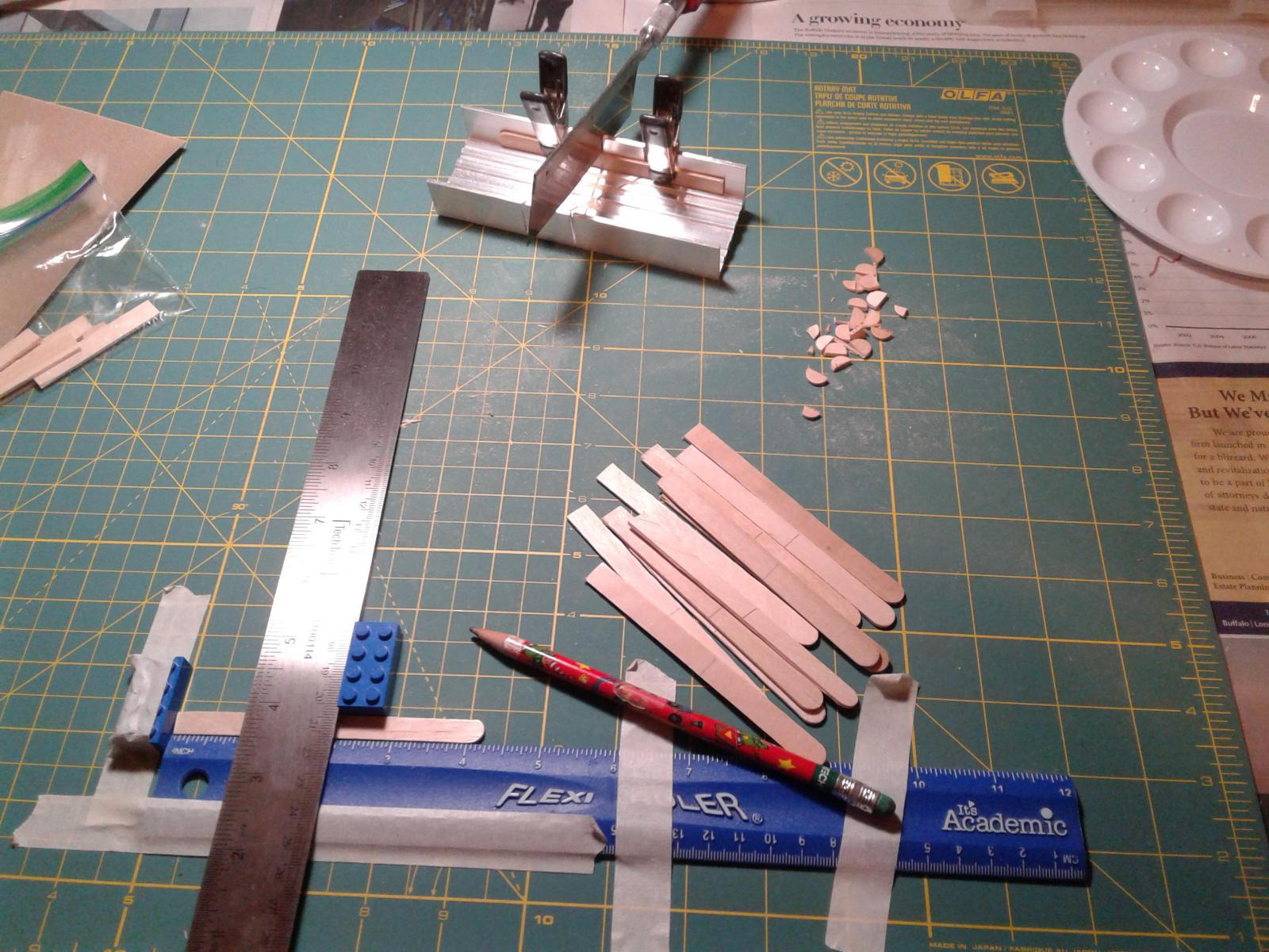 The never ending task of cutting floorboards....