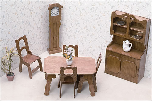 Miniature Furniture Kits - Dining Room