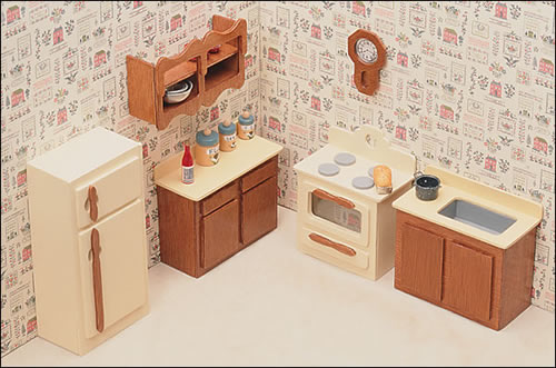 Unfinished Dollhouse Furniture - Kitchen