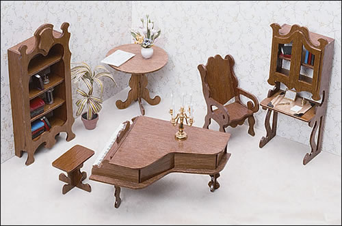 Miniature Library Furniture