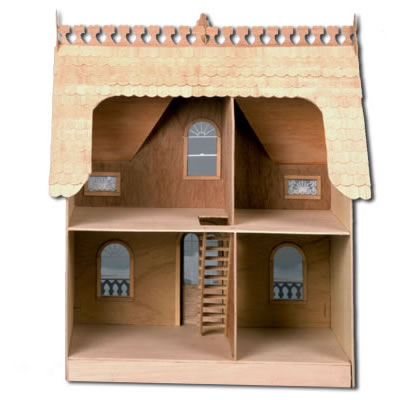 The Arthur Dollhouse: Unpainted Back View