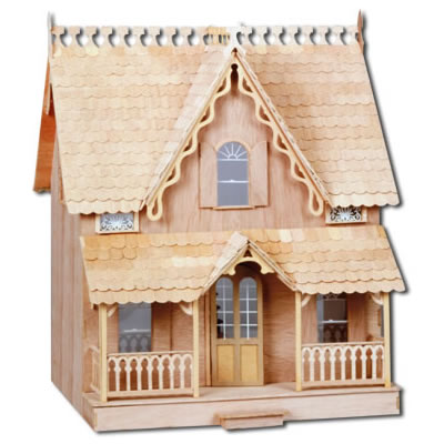 The Arthur Dollhouse: Unpainted Front View