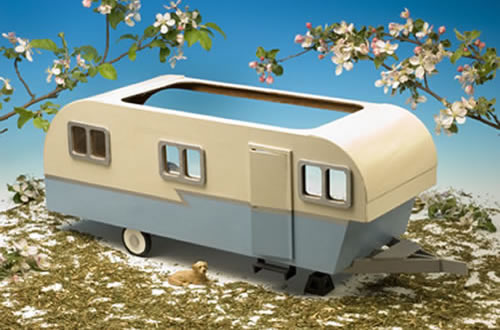 Miniature Travel Trailer Kit